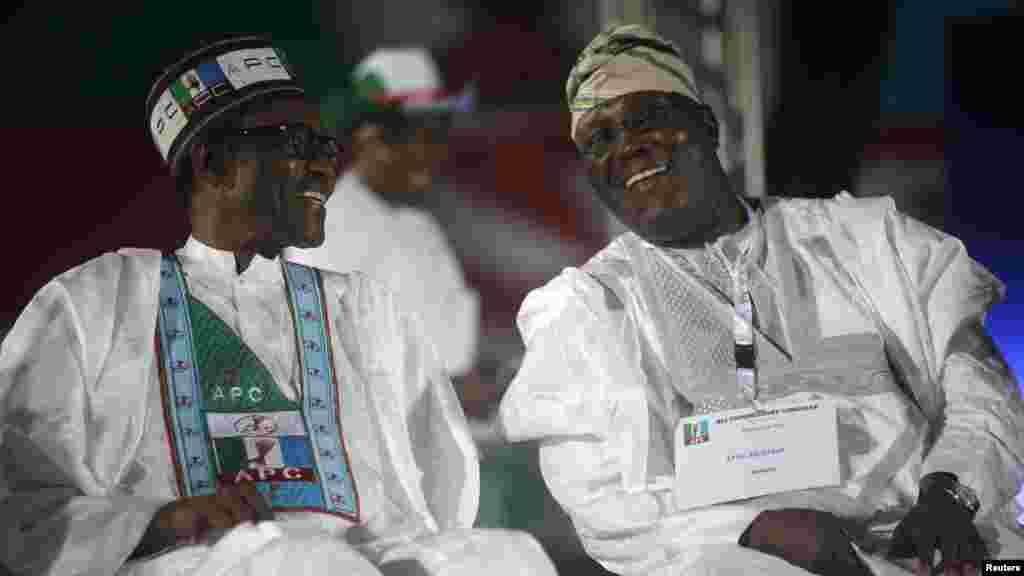 Atiku Abubakar da Mohammadu Buhari, Disamba 11, 2014.