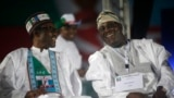 Atiku Abubakar (R) da Mohammadu Buhari