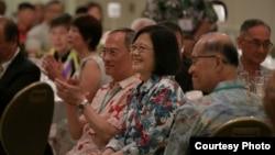 Tổng thống Thái Anh Văn gặp các kiều dân Đài Loan tại Hawaii ngày 28/10/2017.