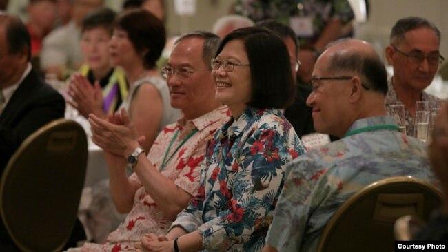 台湾总统蔡英文出访太平洋3个邦交国 回程在夏威夷转机
