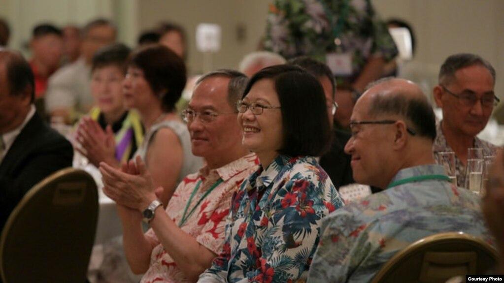 台灣總統蔡英文當地時間2017年10月28日在夏威夷出席僑界午宴。 (台灣總統府提供)