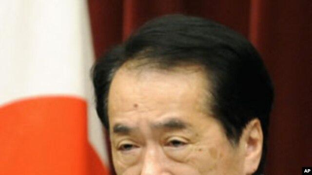 Japanese Prime Minister Naoto Kan (file)