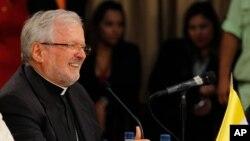Aldo Giordano, nuncio apolstólico en Venezuela, espera que avance el diálogo en el país sudamericano.