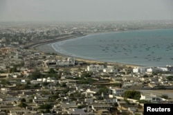 A general view of the Pakistani coastal town of Gwadar on the Arabian Sea