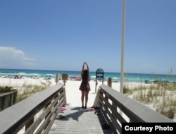 The beach in Destin, Florida. Photo courtesy of Anzhela Rudenko.