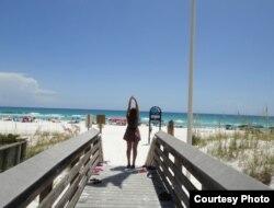 The beach in Destin, Florida. Photo courtesy of Anzhela Rudenko.
