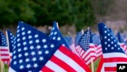 American flag, cemetery