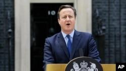 """El primer ministro británico, David Cameron, hizo una declaración sobre la posible muerte de """"Jihadi John"""" el viernes, 13 de noviembre de 2015."""