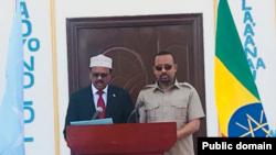 Muummicha ministaraa ItiyoophiyaaDr. Abiyyi Ahimed fi Prezidaantii Somaaliyaa Mohammed Abdullaahii Farmaajoo