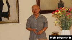 Nhà văn Nguyên Ngọc, Trưởng ban vận động Văn Đoàn Độc Lập. (Ảnh: Vanviet.Info)