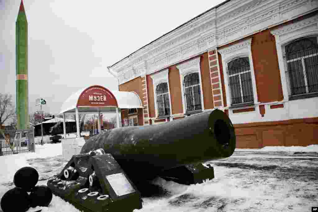 Open-air military museum in Perm, Russia. (Yuli Weeks/VOA)