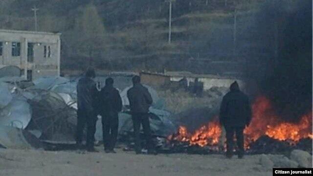 Satellite dishes burned in Malho prefecture