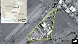 Vue aérienne du complexe d'Abbottabad, où vivait Ossama ben Laden. Pakistan, 2005, AP