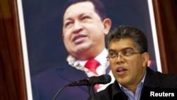 El canciller venezolano, Elías Jaua, envió un mensaje por su cuenta de Twitter a su llegada a Ecuador.