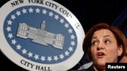 La presidenta del consejo de gobierno de la ciudad, Christine Quinn, anunció la medida en una rueda de prensa.