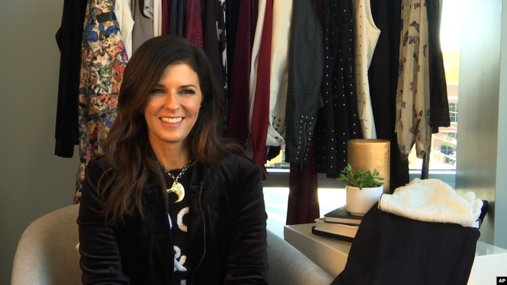 This Nov. 18, 2016 image taken from video shows Karen Fairchild of the country group Little Big Town during an interview in Nashville, Tennessee.