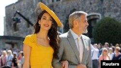 Amal và George Clooney đến dự đám cưới Hoàng tử Harry và Meghan Markle