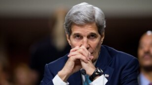 FILE - Secretary of State John Kerry testifies about the Iran nuclear agreement at a Senate Foreign Relations Committee hearing on Capitol Hill, in Washington, July 23, 2015.