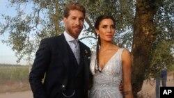 جشن عروسی «سرخیو راموس» و مجری تلویزیون «پیلار روبیو» در سویل اسپانیا