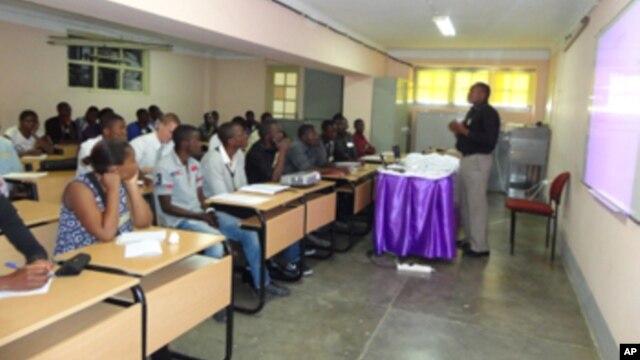 Sala de aulas em Lubango, cidade da Huíla