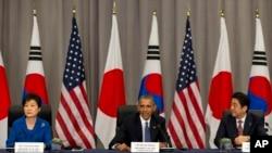 奧巴馬會見了南韓總統朴槿惠和日本首相安倍晉三