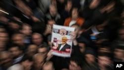Hình ảnh ông Jamal Khashoggi trong lễ tang không có thi thể ông hôm 16/11.