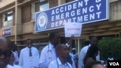 FILE: Doctors on strike in Zimbabwe over lack of equipment and low salaries.