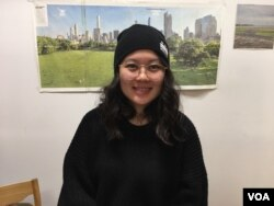 Thu Nguyen is a senior communication officer of OCA-Asian Pacific American Advocates which is leading the 2,300 paper cranes folding event​ at Radical Library inside Eaton DC, Washington DC, on November 18, 2018. (Say Mony/VOA Khmer)