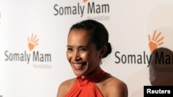 FILE - Anti-sex trafficking advocate Somaly Mam is seen attending the Somaly Mam Foundation Gala Oct. 23, 2013, in New York.