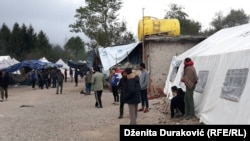 Bosnia and Herzegovina - Migrants at the Vucjak Reception Camp near Bihac. 10. October 2019.