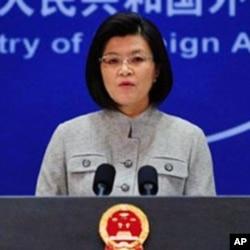 Jiang Yu porta-voz do ministério dos negócios estrangeiros chinês
