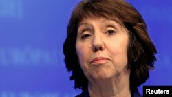EU foreign policy chief Catherine Ashton holds a news conference, January 17, 2013. (File)