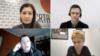 Predstavljanje istraživanja CRTA: Jovana Đurbabić, moderatorka (gore levo), Vujo Ilić (gore desno), Dušan Spasojević, vanredni profesor na FPN (dole levo) i Vukosava Crnjanski, direktorka Crte (dole desno), u Beogradu, 18. marta 2021. (Foto: YouTube kanal Crte/screengrab)
