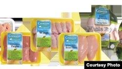 Produk daging halal dari Crescent Foods.