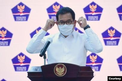Jubir Satgas Penanganan COVID-19 Prof Wiku Adisasmito dalam telekonferensi pers di Istana Presiden , Jakarta, Selasa (6/10) mengatakan positivity rate di Indonesia tiga kali lipat dari standar WHO (Setpres RI)