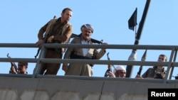 Lực lượng Peshmerga ở phía bắc thành phố Kirkuk, Iraq, ngày 16/10/2017.