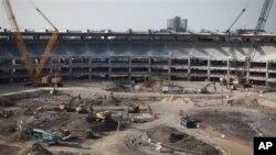 Stadion di Rio de Janeiro Brazil sedang direnovasi untuk Piala Dunia 2014.