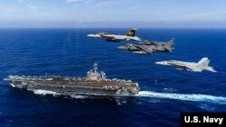 USS Carl Vinson từng nhiều lần đi qua Biển Đông.