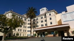 The Hollywood Presbyterian Medical Center is pictured in Los Angeles, California, Feb. 16, 2016. The FBI is investigating a cyberattack that locked down the hospital's electronic database for days, pending payment of ransom to the hackers.