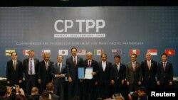 Predstavnici zemalja članica prilikom obnavljanja Transpacifičkog partnerstva, REUTERS/Rodrigo Garrido