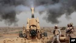 نیروهای سعودی در مناطق مرزی با یمن