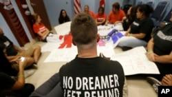 Protesta en el Congreso por la falta de una reforma migratoria.