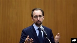 FILE - U.N. High Commissioner for Human Rights Zeid Ra'ad Al Hussein.