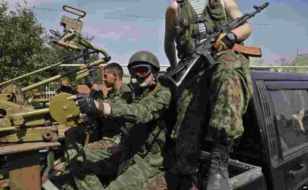 Rusiya tərəfdarı separatçılar Donetsk şəhərində - 7 sentyabr, 2014