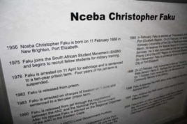 Visitors are able to read the life stories of famous local anti-apartheid activists inside the museum