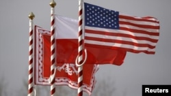 Прапори Польщі і Сполучених Штатів