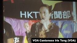 香港藝人張可頤表示,免費電視牌照爭議,已經演變為社會事件