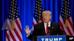 Le candidat républicain à la Maison Blanche Donald Trump, 22 juin 2016. (AP Photo/Mary Altaffer)