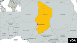 Peta wilayah Chad, Afrika