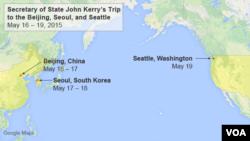 ແຜນເດີນທາງ ຂອງທ່ານ John Kerry